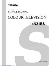 Toshiba 14N21BS Service Manual