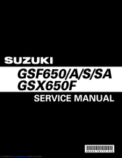 Suzuki GSX650F Service Manual
