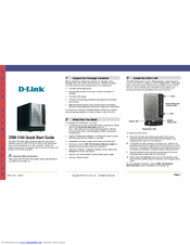 D-Link DSN-1100 Quick Start Manual