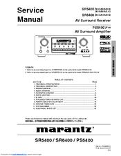 Marantz SR6400 Manuals