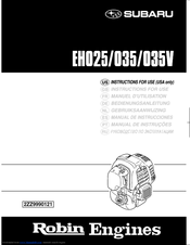 Robin Eh025 Instructions For Use Manual Pdf Download