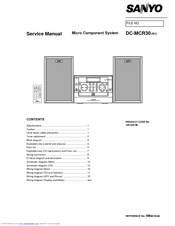 Sanyo DC-MCR30 Service Manual