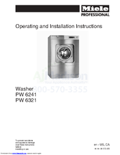 Miele PW 6241 Operating And Installation Instructions