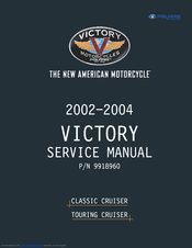 VICTORY MOTORCYCLES CLIC CRUISER 2002 SERVICE MANUAL Pdf ... on
