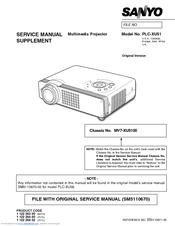 sanyo plc xu51 manuals rh manualslib com sanyo pro x multimedia projector manual Sanyo Multimedia Projector PLC-XU75