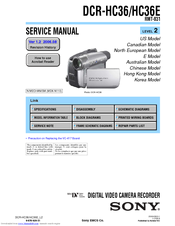 sony dcr hc36 minidv digital handycam camcorder manuals rh manualslib com Owner's Manual User Manual PDF
