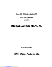 JRC JFV-700 Installation Manual
