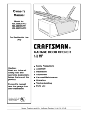 Craftsman 139 53675srt2 Manuals