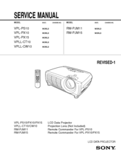 sony vpl px10 xga lcd projector manuals rh manualslib com sony vpl-cs7 projector manual sony projector user manual