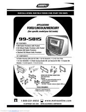 metra electronics 99 5815 manuals rh manualslib com Metra Home Theater Metra Electronics Holly Hill
