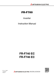 Mitsubishi Electric FR-F740 EC Instruction Manual