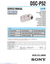 sony dsc p52 cyber shot 3 2mp digital camera manuals rh manualslib com Sony Cyber-shot Digital Camera sony cyber-shot dsc-p52 3.2 megapixel manual