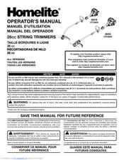 homelite ut33600 manuals rh manualslib com Homelite Weed Eater Owner's Manual Homelite 330 Owner's Manual