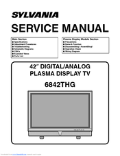 sylvania 6842thg manuals rh manualslib com Service Station Parts Manual