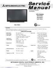 mitsubishi electric wd 65831 manuals rh manualslib com