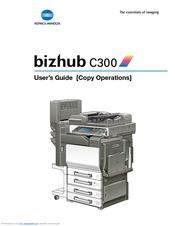 Konica Minolta BIZHUB C300 Manuals