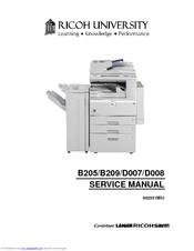 ricoh b205 service manual pdf download rh manualslib com Ricoh MP 2510 Brochure Ricoh Printers