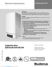 buderus logamax plus gb162 100 kw manuals rh manualslib com buderus logamax gb112 manual buderus logamax u052-24k manual