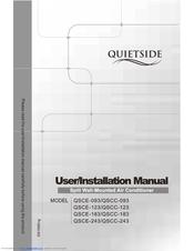 QUIETSIDE QSCE-093 USER/INSTALATION MANUAL Pdf Download