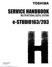 toshiba e studio 163 service handbook pdf download rh manualslib com Toshiba TV Service Manual Toshiba Laptop Service Manual