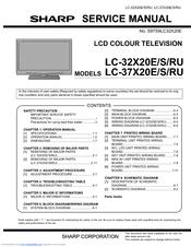 Sharp Lc 42x20ru Manuals Manualslib