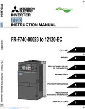 Mitsubishi Electric FR-F740-09620-EC Instruction Manual