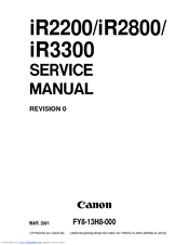 canon ir2200 service manual pdf download rh manualslib com Canon Ir3300 Drum Unit Canon imageRUNNER 3300 Brochure