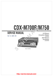 sony cdx m750 fm am compact disc player manuals rh manualslib com Sony Wiring Harness Colors Sony Explode Wiring-Diagram