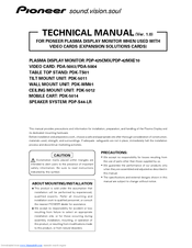 Pioneer Pure Vision PDP-425CMX Technical Manual