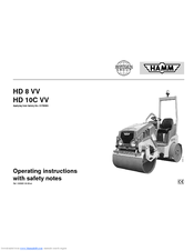 hamm hd 10c vv manuals rh manualslib com Hamm Parts Catalog Hamm Vibratory Rollers