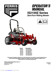 FERRIS IS2100Z SERIES OPERATOR'S MANUAL Pdf Download