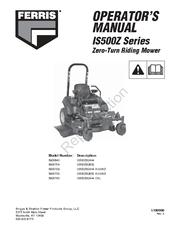 FERRIS IS500Z SERIES OPERATOR'S MANUAL Pdf Download