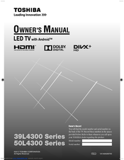 toshiba 39l4300 series owner s manual pdf download rh manualslib com Toshiba Laptop User Manual toshiba led tv 39l4300u manual