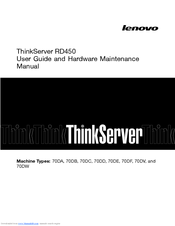 Lenovo ThinkServer RD450 User Manual And Hardware Maintenance Manual