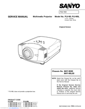 Sanyo PLV-75 Series Service Manual