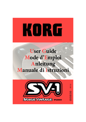 Korg Stage Vintage SV-1 User Manual