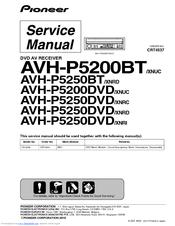 Pioneer AVH-P5250DVD Service Manual