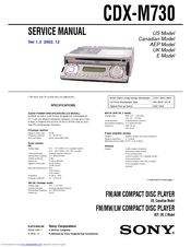 sony cdx m730 manuals sony cdx m730 service manual