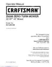 craftsman z6700 manuals rh manualslib com Craftsman 5 22 Snowblower Parts Craftsman Model 917