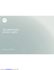 Motorola MILESTONE - User Manual