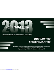 polaris outlaw 90 owner s manual pdf download rh manualslib com 2014 polaris outlaw 90 service manual polaris outlaw 90 service manual pdf