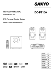 Sanyo DC-PT100 Instruction Manual