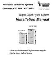 panasonic kx td1232 manuals rh manualslib com User Guide Template Kindle Fire User Guide