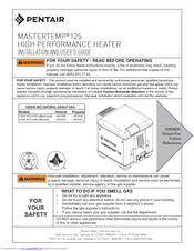 Pentair Mastertemp 125 Manuals