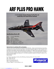 Skymaster ARF PLUS PRO HAWK 100 Manuals