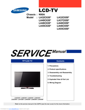 Samsung LA32C630 Series Service Manual