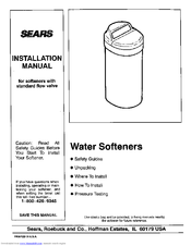 Water manual series washer repair pages softener kenmore 350 flow.