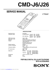 Sony CMD-J26 Service Manual