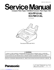 panasonic kx fp121al service manual pdf download rh manualslib com Panasonic Fax Machines Models Panasonic Fax and Answering Machine