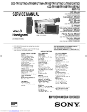 Sony CCD-TRV312 Operating Instructions (primary manual) Manuals